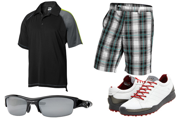 Men's look for golf
