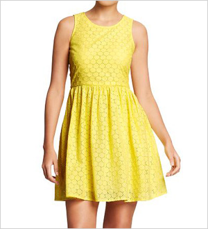 Yellow Eyelet Dress from Old Navy